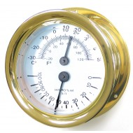 Brass Capstan Thermometer Hygrometer
