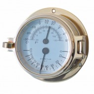 Brass Latch Thermometer Hygrometer