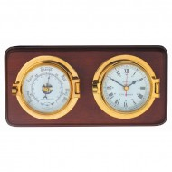 Mounted Latch Clock and Barometer