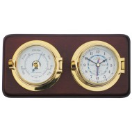 Mounted Latch Tide Clock and Barometer