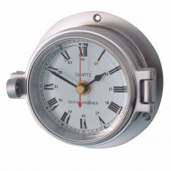 Matt Chrome Latch Clock