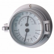 Matt Chrome Thermometer Hygrometer