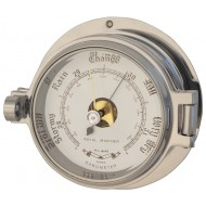 Polished Chrome Latch Barometer
