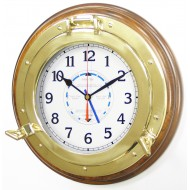 Wood Mounted Porthole Tide Clock