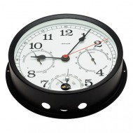 Black Combination Clock (160mm Dial)