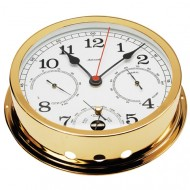 Gold Plated Combination Clock (160mm Dial)