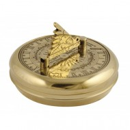 Greenwich Pocket Sundial And Compass