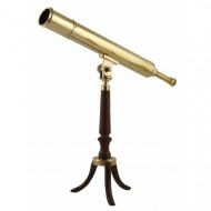 Elegant Victorian-style Library Telescope in Brass