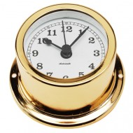 Gold Plated Quartz Clock (50mm Dial)