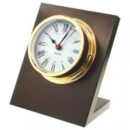 Gold Plated Quartz Desk Clock (120mm Dial)