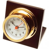 Gold Plated Quartz Desk Clock (50mm Dial)